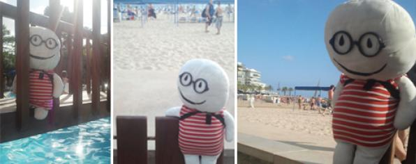 Stabri, the most famous doll in the network, on vacation in Salou and in Costa Dorada 1
