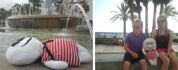 Stabri, the most famous doll in the network, on vacation in Salou and in Costa Dorada 2