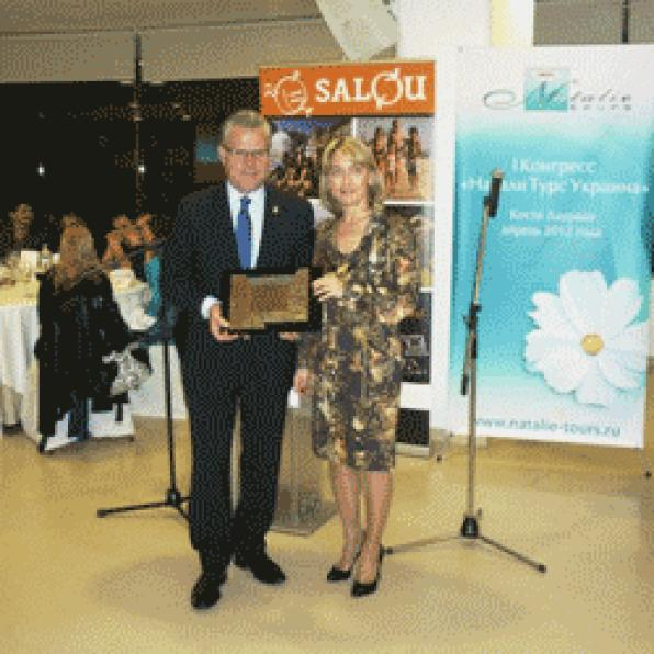 Salou sample the local cuisine over a hundred travel agents in Ukraine