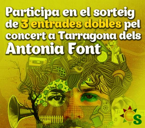 Antonia Font presented on December 1 new album in Tarragona. Want a ticket for the concert?